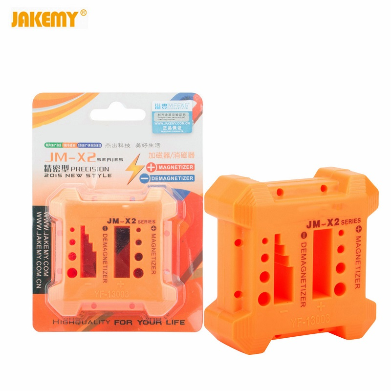 JAKEMY JM-X2 Magnetizer Demagnetizer Tool Steel Screwdriver Tweezers Magnetic Pick Up Hand Tools Push Magnet Reducer Head Device
