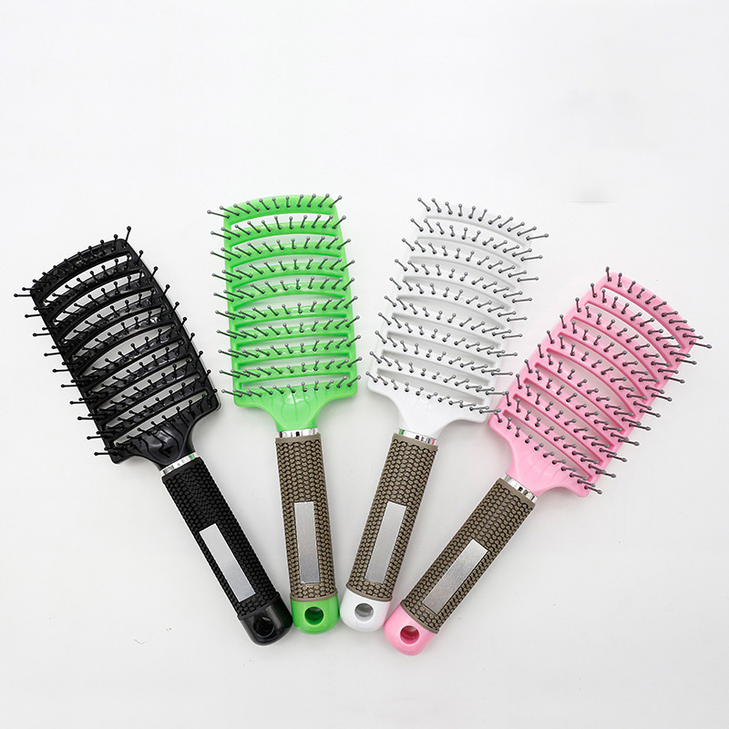 Professional Combs Women Hair Scalp Massage Comb Bristle  Nylon Hairbrush Wet Curly Detangle Hair Brush For Salon Hairdressing