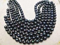 Свободные бусины Свежая вода, жемчужина, рядом круглый черный большой размер 13 мм 17 мм 15 для DIY ожерелье оптовая продажа