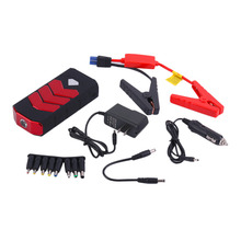50800MAH Large Capacity Car Jump Starter Portale Size Emergency Vehicle Booster Battery Power Bank Charger Red