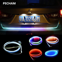 Pecham Car Styling RGB Undercarriage Floating Led Dynamic Streamer Turn Signal Tail LED Warning Lights Luggage