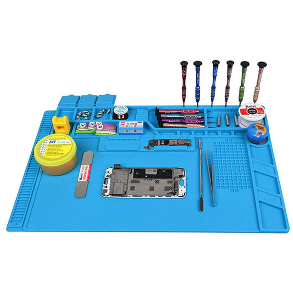 цена на S-170 480x318mm Silicone Pad Desk Work Mat Heat Insulation Maintenance Platform for BGA PCB Solderin