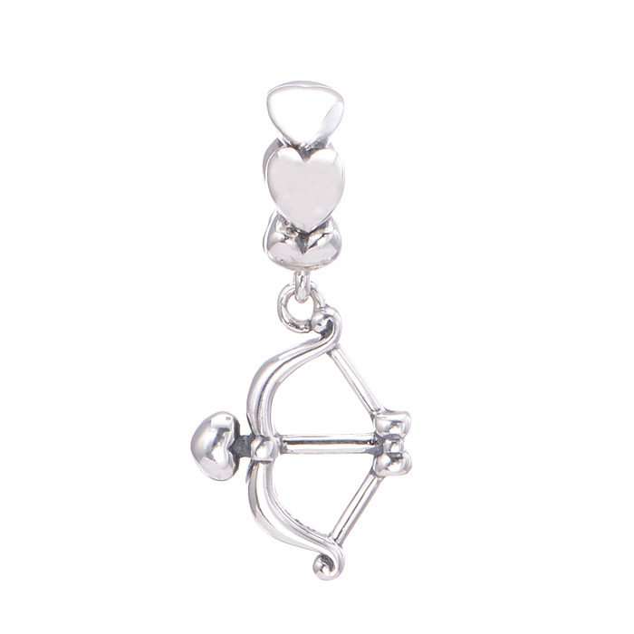 New Arrival 925 Sterling Silver Cupid Arrow to Love Charm