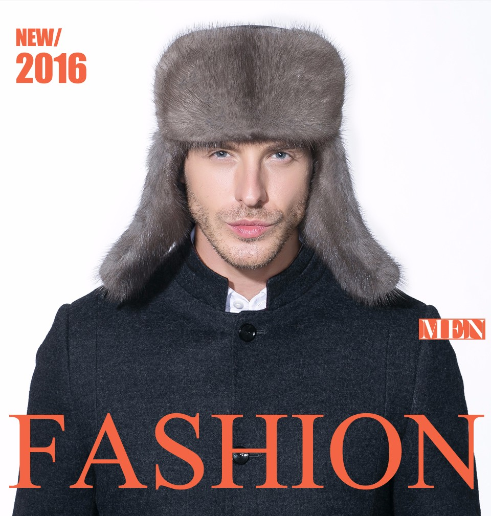 13c646bd New winter men's mink hat the whole old ear-fur Lei Feng Cap winter padded  real leather keep warmUSD 74.20-77.00/piece. e. aeProduct.