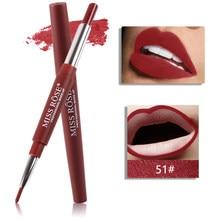 Miss Rose 20 couleur longue durée mat rouge à lèvres crayon imperméable hydratant rouge à lèvres maquillage Contour lèvres Liner cosmétiques TSLM1