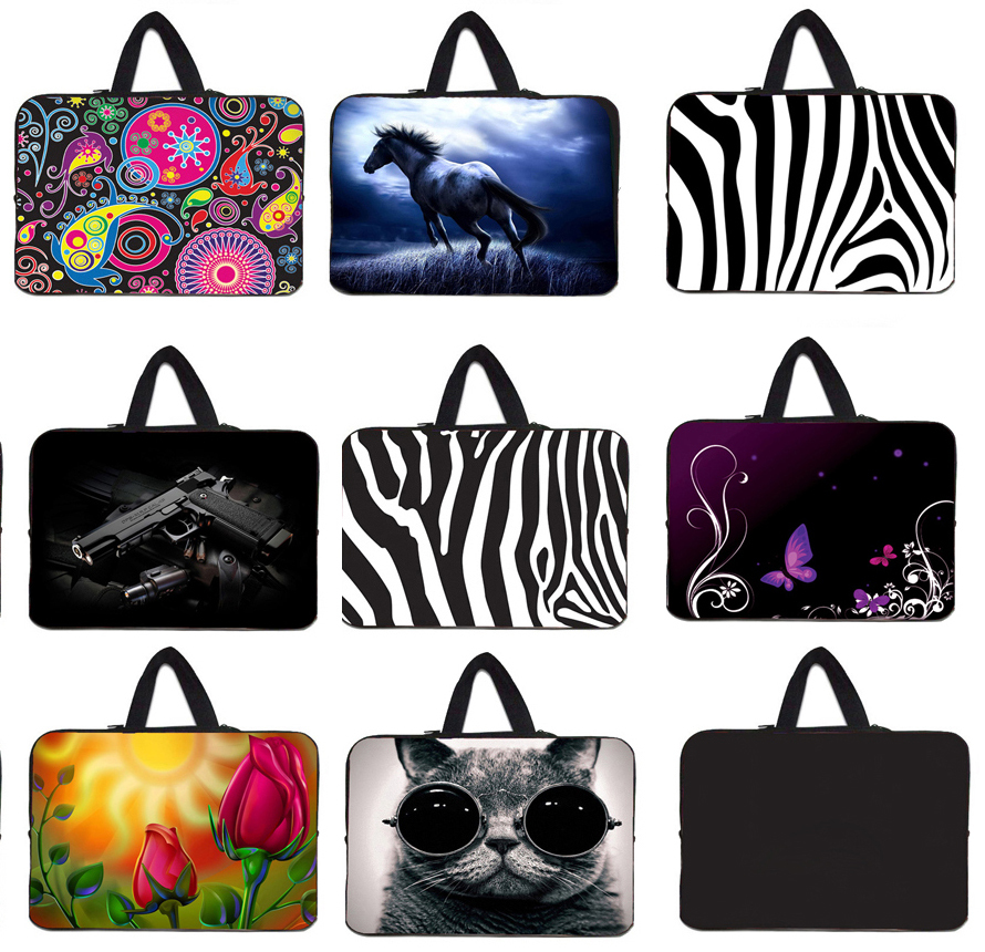 Stylish Laptop Bag 7 8 10 Tablet 10.1 9.7 11.6 12.1 13.3 14 15 17.4 Mini PC Slim Shell Cover Pouch Bags Cases Neoprene Briefcase