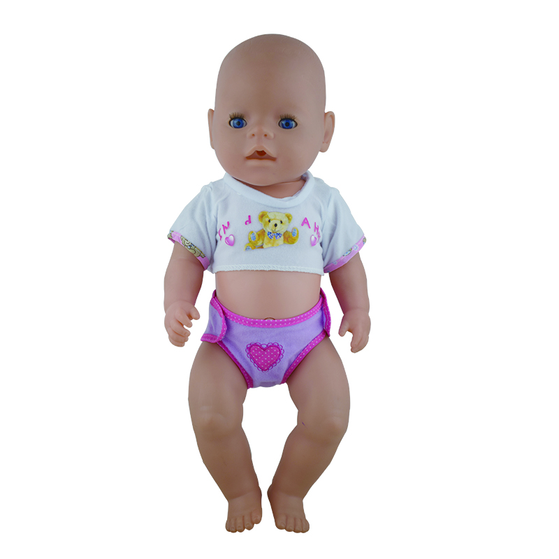 Baby Born Doll Clothes Cute Suit Sunhat Suit Fit 43cm Zapf Baby Born 16-18 inch Doll Accessories