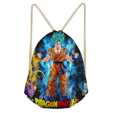 ThiKin Dragon Ball Z Anime Printed School Backpack for Boys Kids Drawstring Bags Small Backpack Students Rucksack Mochila