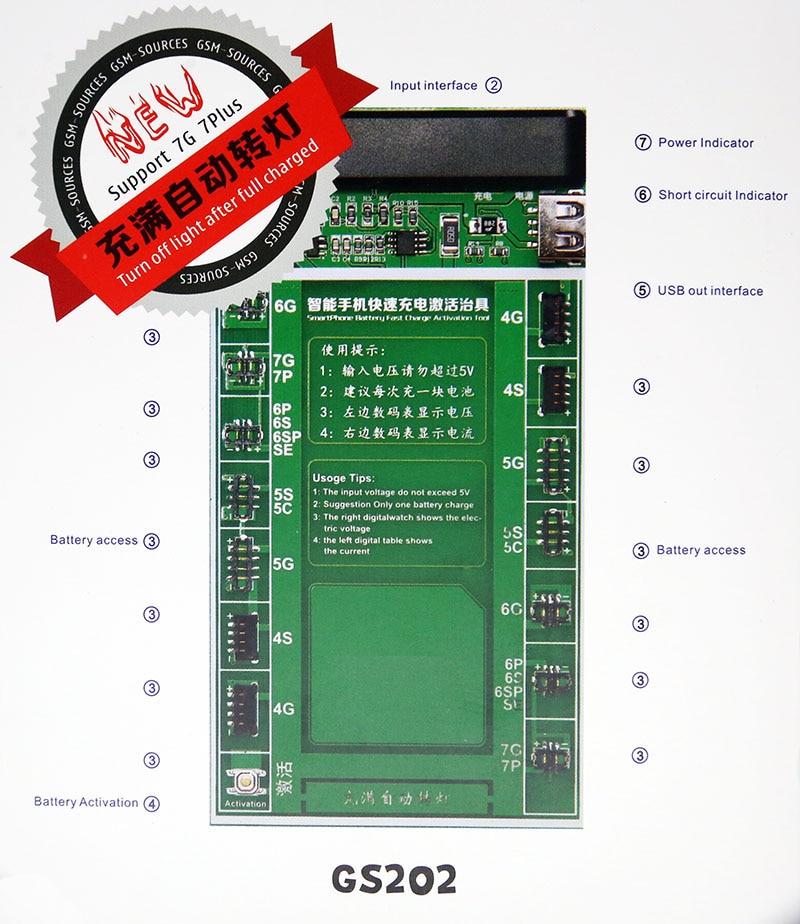 imágenes para Alborado Cargo Placa PCB de Activación de la Batería con el Cable USB para el iphone 7G 7 plus 6G 6 plus SE 5G 5S 4G 4S Circuito de Prueba