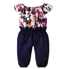 Summer Jumpsuit Girls Flower Baby Jumpsuits Girl Romper Costume Overalls Childrens 1-6year