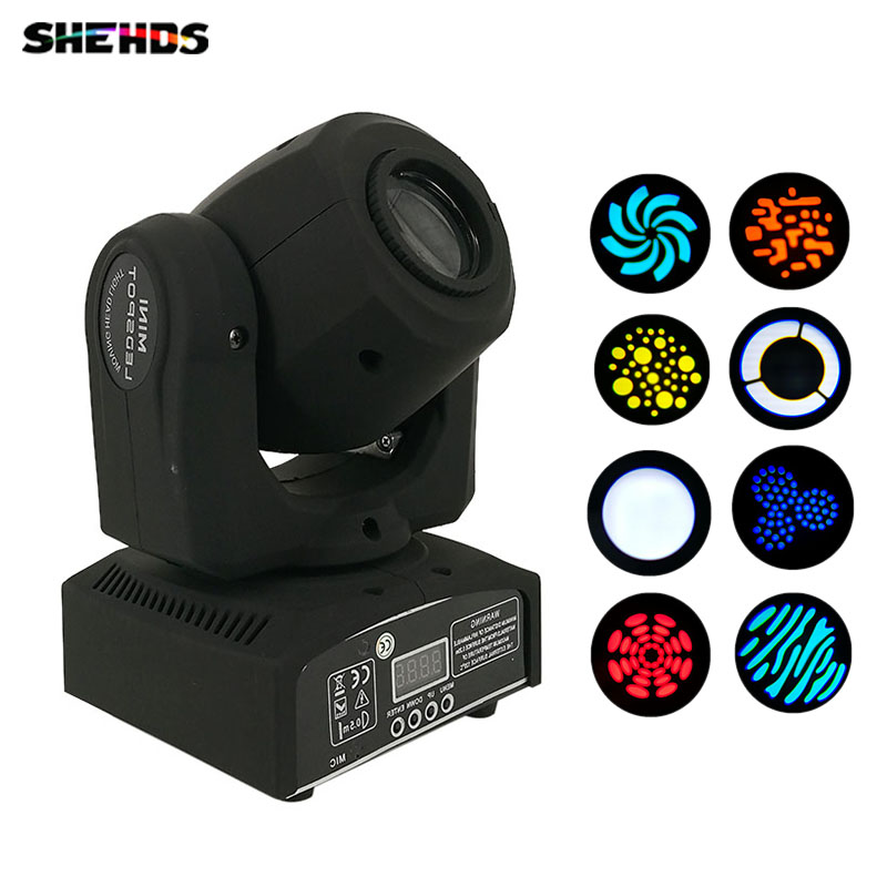 FREE&FAST SHIPPING 30W Mini LED moving head Spot Gobo Light DMX512 led stage lighting Professional Stage & DJ new 30w spot gobo moving head light dmx controller led stage lighting disco dj wedding christmas decorations stage light par led