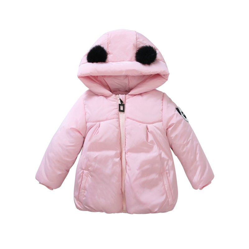 Модные зима-осень детские для маленьких мальчиков Обувь для девочек теплое пальто Топы корректирующие 3D с рисунком панды милые с капюшоном ...