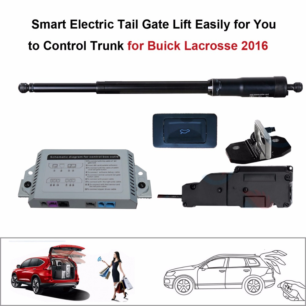 auto Electric Tail Gate Lift for Buick Lacrosse 2016 Control by Remote in Trunk Lids Parts from Automobiles Motorcycles