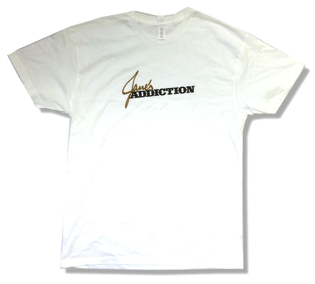 Janes Addiction Classic Name Logo White T Shirt New Official Soft