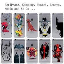 deadpool batman Hard Transparent Case Cover for iPhone 7 7 Plus 6 6S Plus 5 5S SE 5C 4 4S