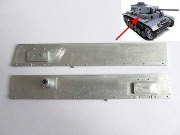 Mato left & right metal plate for 1/16 1:16 RC Panzer III, IIIH tank