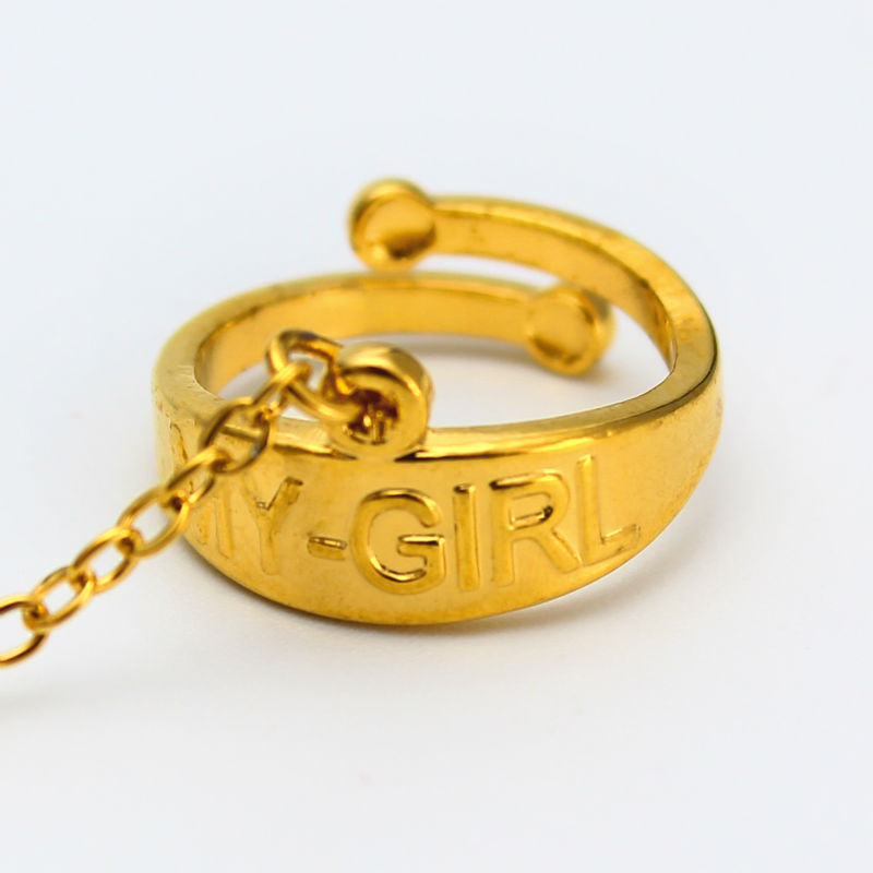 2017 New Dubai Gold Color MY GIRL Bangle Child Bracelet Bangle