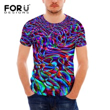 FORUDESIGNS New Arrivals 2019 Mens Fashion Purple Printed T shirt Funny 3d Novelty Design Tee Shirts Hipster Male Cool Tops