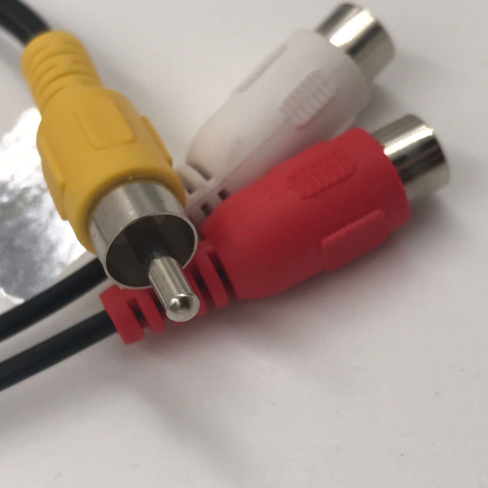 Rca Cable 1 Male To 2 Female Cable High Quality Y Splitter