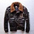 2015 Топ Телячьей Кожи Ввс мужские Кожаные Куртки Полета Пиджак AM Aeronautica Militare Верхнего продажи для Рождественский Подарок