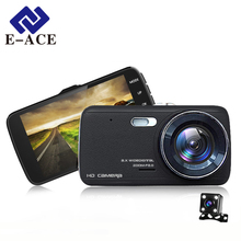 Wholesale prices E-ACE Car DVR Camera Dashcam Dual Lens With LDWS ADAS Rearview  Mirror Car Distance Warning FHD 1080P Night Vision Automobile