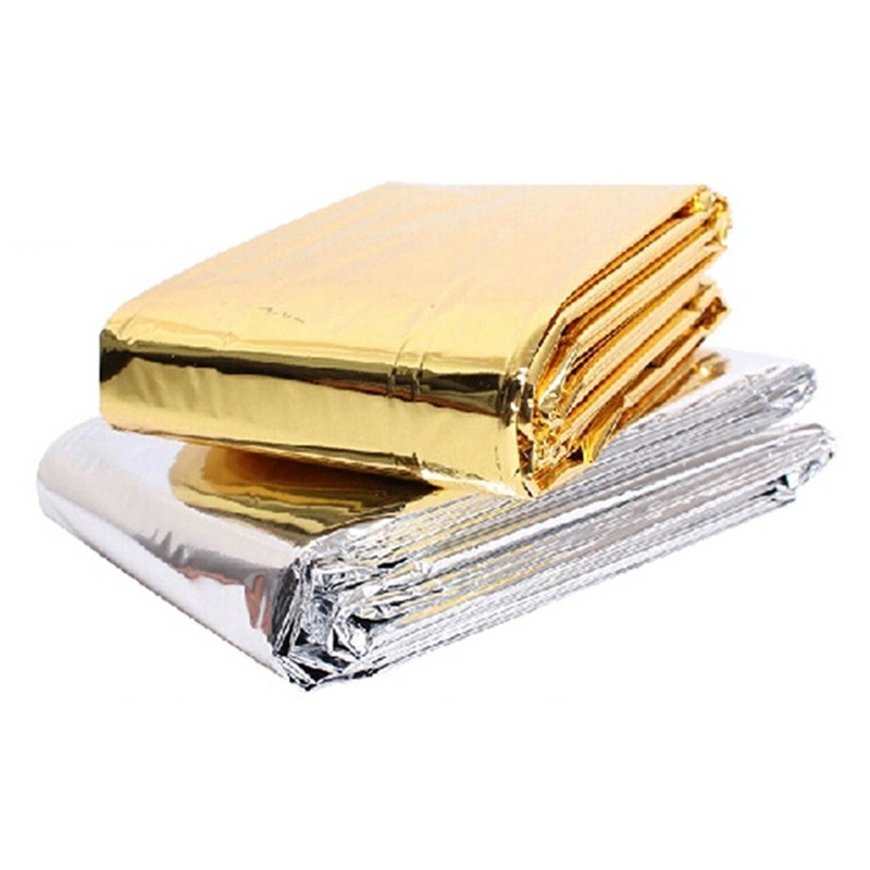 First Aid Rescue Blanket Outdoor Rescue Waterproof Original Aluminum Warm Emergency Protection Polyester Film Blanket