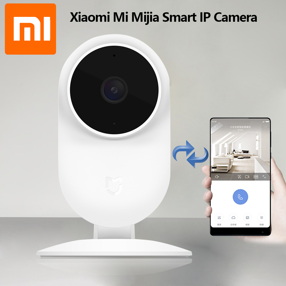 Original Xiaomi Mijia 1080p Smart Web IP Cam 2018 newest Xiaomi HD Smart Home Devices 130 degrees 2.4G/5G Wifi Night Vision Cam цена