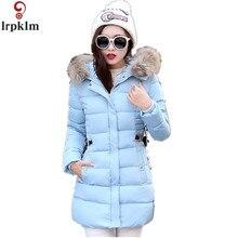 Новая зимняя куртка женская тонкая верхняя одежда куртка с капюшоном женщина теплое пальто Для женщин Ультра легкое белое Мужские парки розовый цвет M-XXXL LZ154