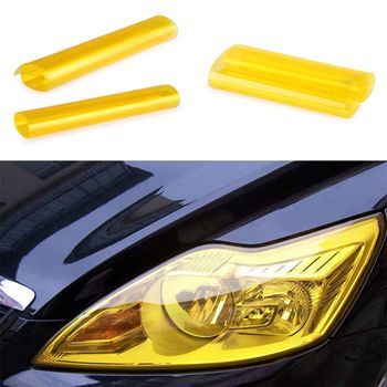 New Arrival Headlight Tint Film Fog Tail Lights Tinting Car wrap Brand New Good Yellow Tail Wrap Fog Durable Brand New image