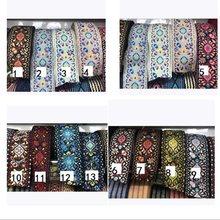 6 jardas/lote de largura 5cm tecido jacquard fita guarnições totem flores design para vestuário correias acessório LS-781