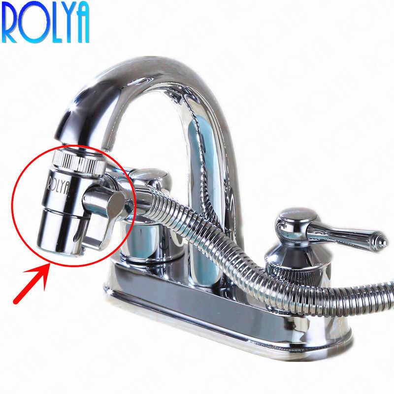 Phenomenal Rolya Brass Diverter Aerator For Kitchen Sink Mixer Tap Bathroom Shower Basin Faucet Spout Replacement Part M22 X M24 Chrome Download Free Architecture Designs Barepgrimeyleaguecom