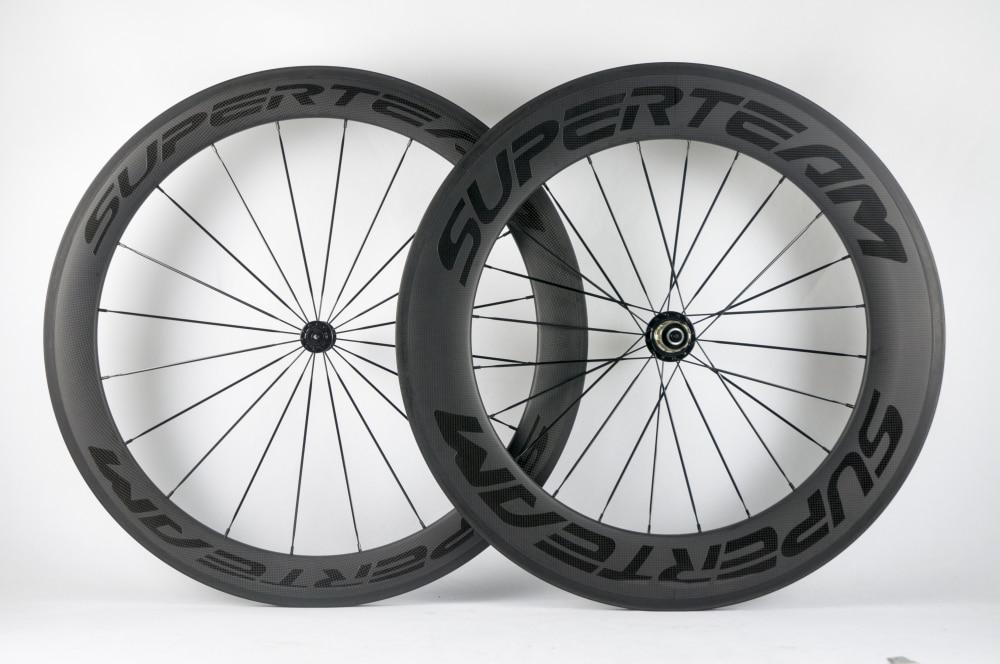 SUPERTEAM Carbon Road Bike Wheels 60 88 Clincher Wheelset 700C