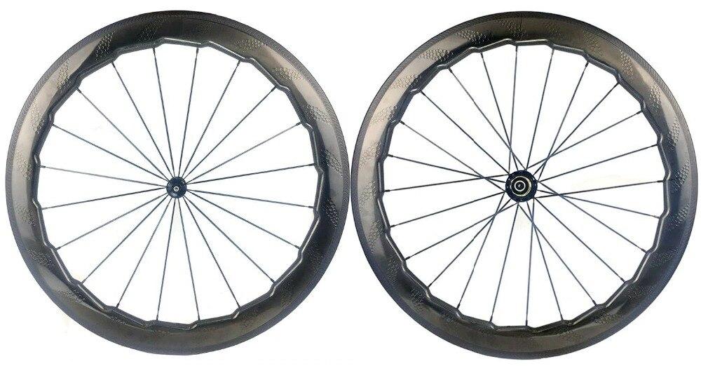 NSW454 fossette surface carbone roues 58mm profondeur 25mm largeur enclume/Tubulaire carbone roues handtailor de frein bord