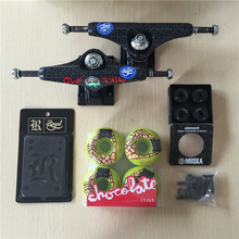 2016 Skateboard Parts Skateboard Trucks Royal And Chocolate Wheels  ABEC-7 ELement Bearings with Hardware Sets & Riser Pad Gifts