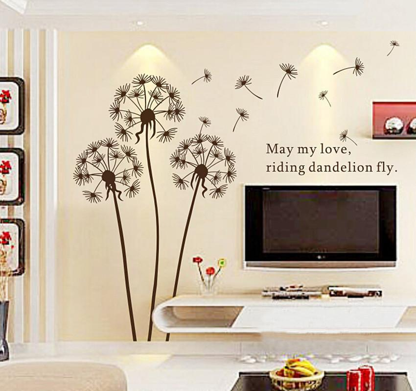 Vogue Assorted Design Dandelion Art Word Wall Sticker Paper Decal Home Room Decor Removable Free