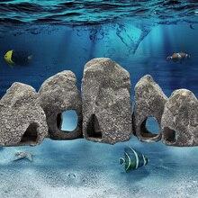 Cichild креветки скрываются пещера укрытие рок керамическая имитация аквариума украшение для аквариума разведение