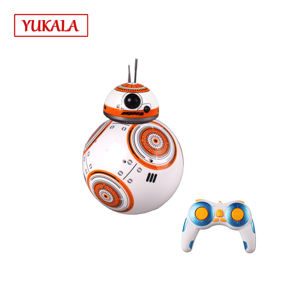 Free shipping BB - 8 intelligent Remote Control Robot awakening the force ball toy Robot Christmas present for kids boys girls