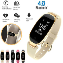 Bluetooth Waterproof S3 Smart Women's Watch Fashion Ladies Heart Rate Monitor Fitness Tracker Smartwatch 2018 For Android IOS