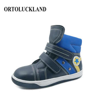 Ortoluckland Children Sport Shoes Boys Running Shoes Kids Leather Orthopedic Shoes Winter short Booties Sneakers Casual Boots - DISCOUNT ITEM  30% OFF All Category