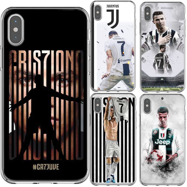 Italy Juventus Football star Cristiano Ronaldo CR7 Hard PC Phone Case Cover  For iPhone X 5 5S SE 6 6S Plus 7 8 Plus XS XS Max XR 09ee552c8