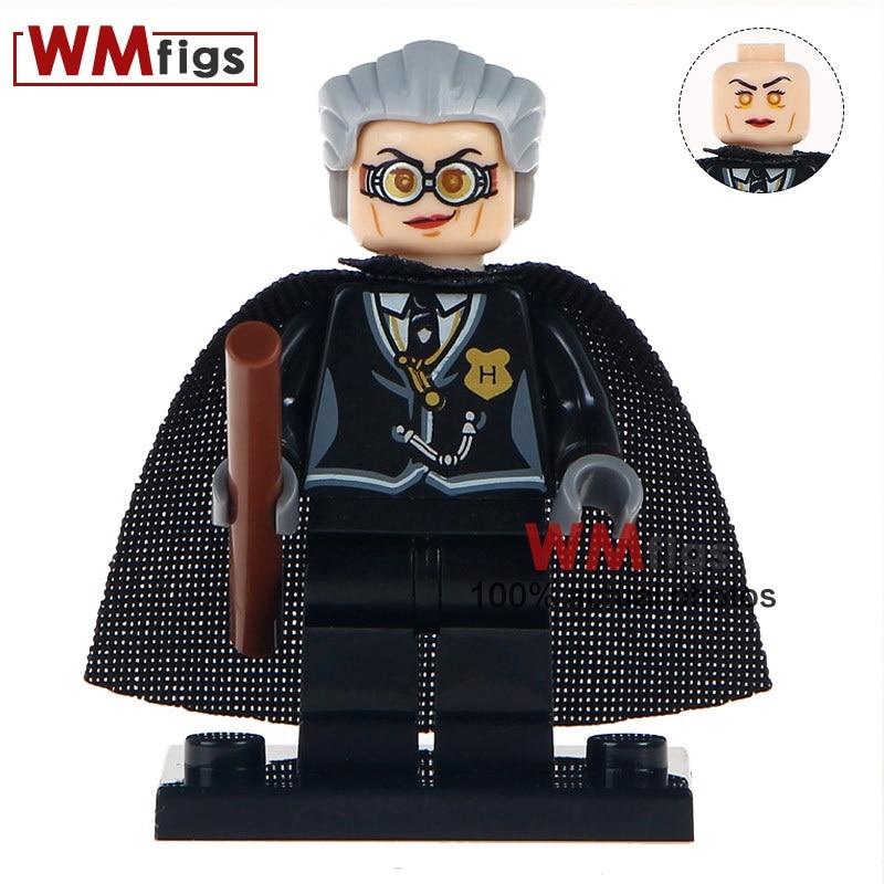 50 pcs lot WM423 Hogwarts Magic School First Grade Flight Teacher Madame Hooch Collection Building Blocks