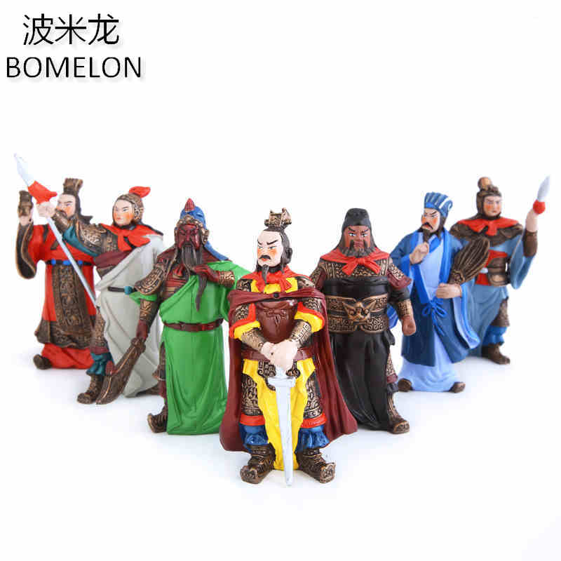 Original Three kingdoms Toy Figures Zhuge Liang Mini Resin Doll Anime Figure Chinese Crafts Kids Toys for Boys Birthday Gifts 12pcs set children kids toys gift mini figures toys little pet animal cat dog lps action figures