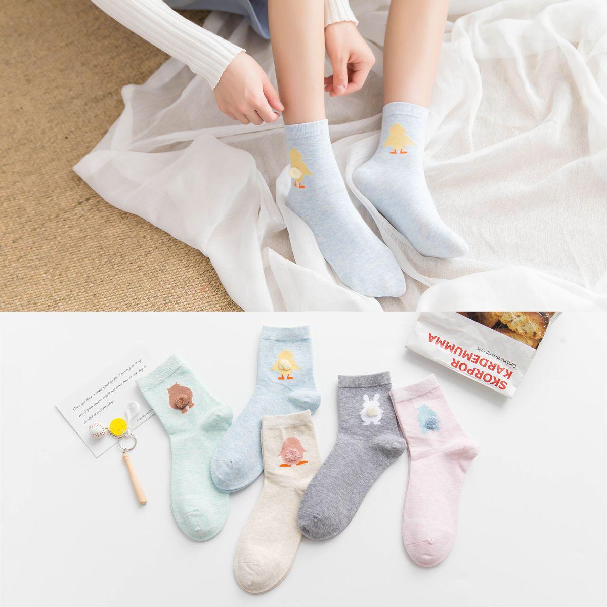 Calcetines de algodón bonitos de dibujos animados tridimensionales calcetines japoneses señora tubo calcetines Otoño e Invierno nuevos fabricantes de algodón al por mayor
