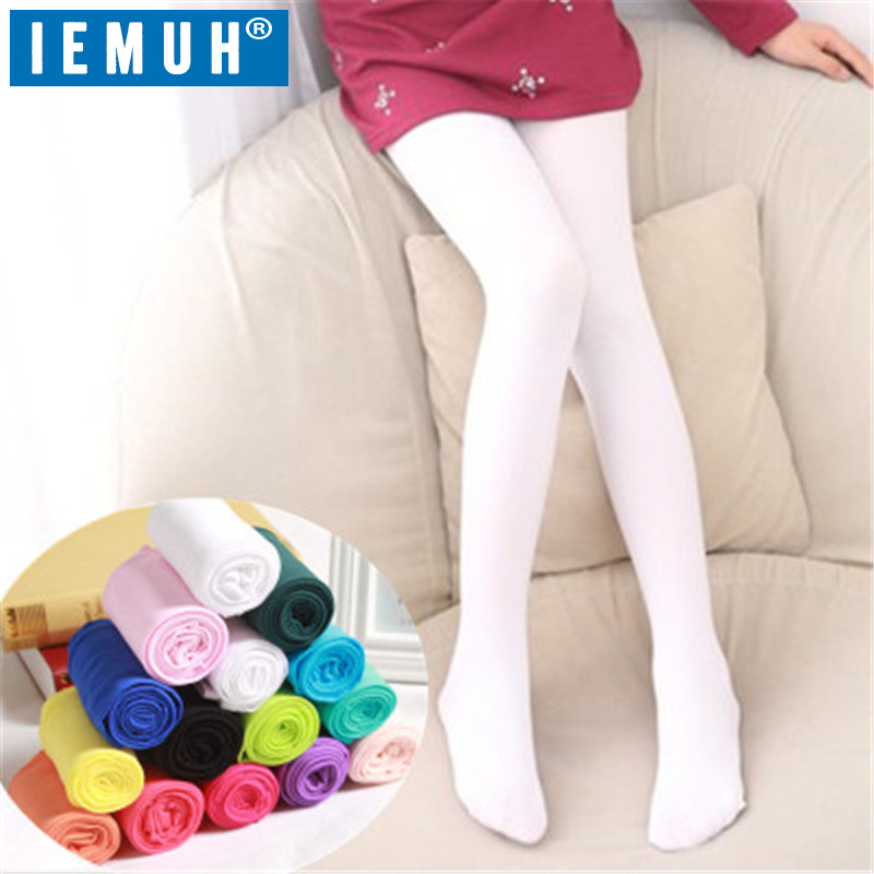 IEMUH Spring/autumn Candy Color Children Tights For Baby Girls Kids Cute Velvet Pantyhose Tights Stockings For Girls Dance Tight