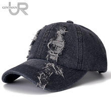 New Denim Cap High Quality Hole Baseball Cap Leisure Cotton