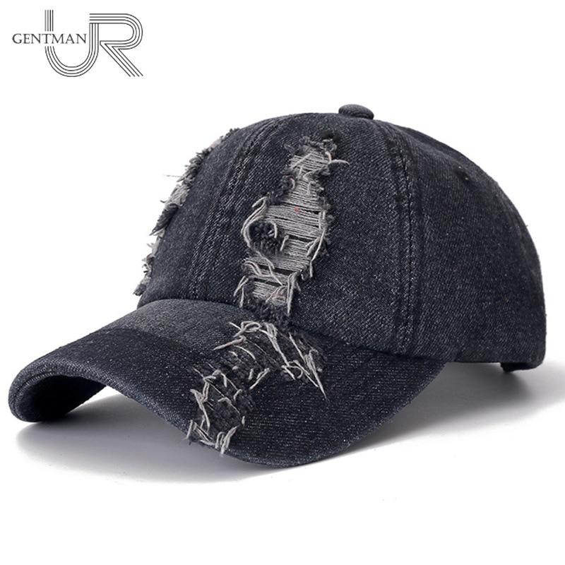 New Denim   Cap   High Quality Hole   Baseball     Cap   Leisure Cotton   Cap   For Men And Women Outdoor Sports Streetwear Hat   Cap
