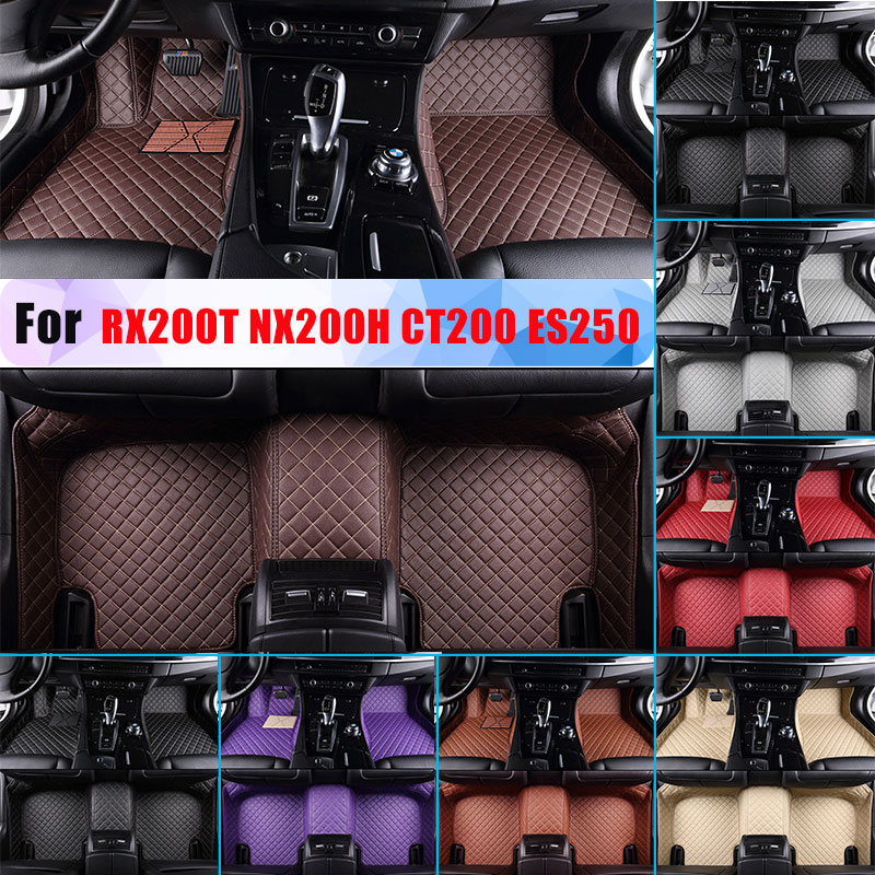 Waterproof Car Floor Mats For <font><b>Lexus</b></font> <font><b>RX200T</b></font> NX200H CT200 ES250 All Season Car Liner Artificial Leather Full Surrounded image