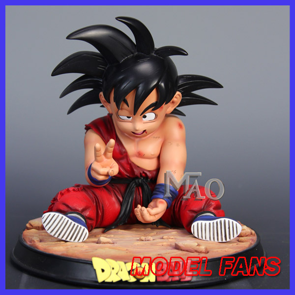MODEL FANS Dragon Ball Z goku childhood Battle damage gk resin figure contain figure toy for Collection model fans instock dragon ball gk vkh childhood goku vs geelong gk resin scene very rare action figure