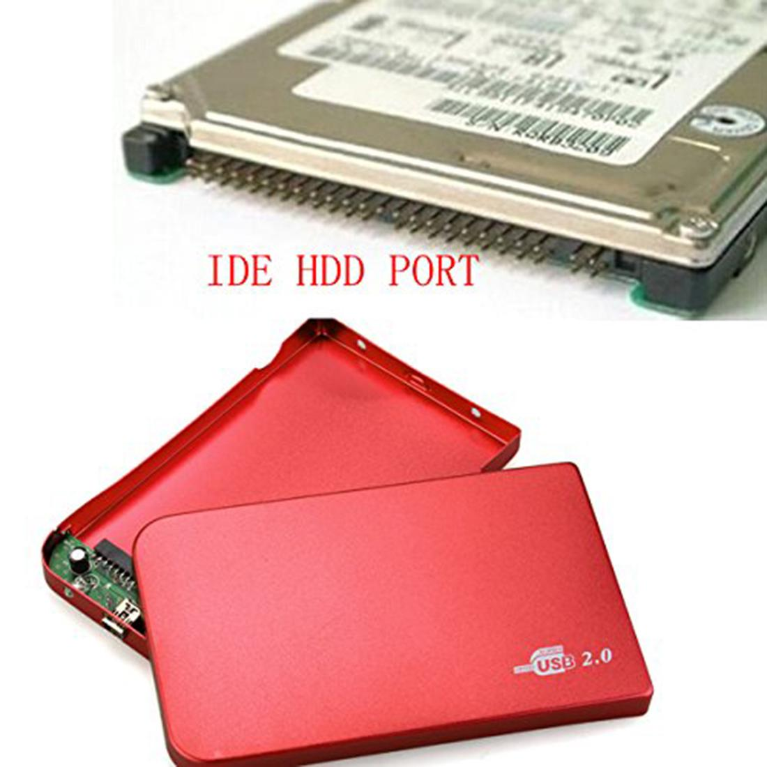 Etmakit New Fashion New Arrive Red External Hard Drive Enclosure 2.5 Inch Usb 2.0 Ide Portable Case Hdd Ultra Thin 2 5 ide usb 2 0 external hard drive enclosure case black