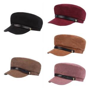 Hats Wool-Hat Baseball-Cap Winter Cap Female Black Women for Button Sun-Visor